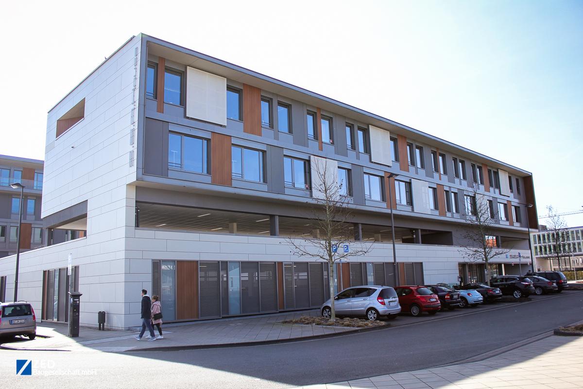 Referenzen - Hinteransicht des S.E.A. House am Dortmunder Phönixsee